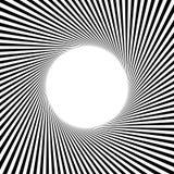 Циркуляр, линии геометрическая картина нашивок Monochrome illustrati Стоковое Изображение
