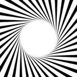 Циркуляр, линии геометрическая картина нашивок Monochrome illustrati Стоковая Фотография