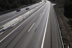 Циркуляция автомобилей, строительство дорог стоковое фото rf