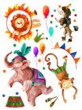 Цирк акварели бесплатная иллюстрация