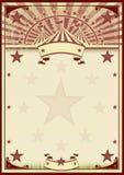 Цирк играет главные роли винтажный плакат иллюстрация штока