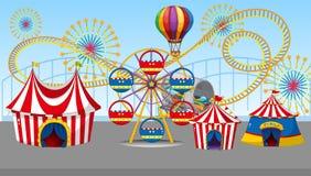 Цирк и ярмарка потехи бесплатная иллюстрация