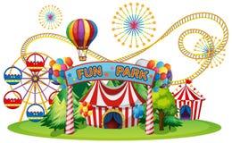 Цирк и ярмарка потехи иллюстрация вектора