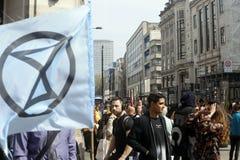 Цирк Лондон Оксфорда протеста повстанчества вымирания стоковые фото
