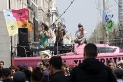 Цирк Лондон Оксфорда протеста повстанчества вымирания стоковая фотография rf