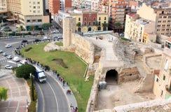цирк около римских студентов tarragona Испании Стоковое Изображение RF