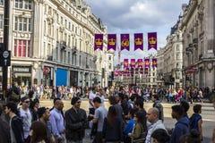 Цирк Оксфорда в Лондоне Стоковые Фотографии RF
