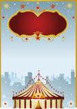 Цирк рождества в городе иллюстрация штока