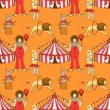 Цирк эскиза в винтажном стиле иллюстрация вектора