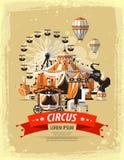 Цирк, ярмарочная площадь, масленица также вектор иллюстрации притяжки corel Стоковые Изображения