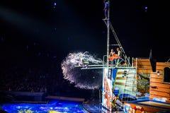 цирк international chimelong стоковое фото