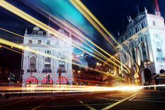 Цирк Piccadilly, nighttime Лондона Стоковое Фото