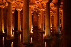 Цистерна базилики, Стамбул Стоковая Фотография
