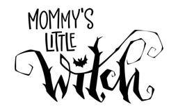 Цитата ведьмы мамы маленькая Фраза литерности стиля сценария современной руки вычерченная бесплатная иллюстрация