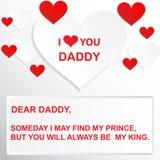 Цитата влюбленности - когда-нибудь я могу найти мой принц, но вы всегда будете моим королем Стоковая Фотография RF