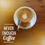 Цитата кофе Стоковые Изображения RF