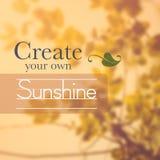 Цитата на Treetop в солнечном свете Стоковая Фотография RF