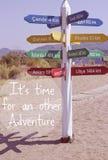 Цитата приключения перемещения Стоковая Фотография RF