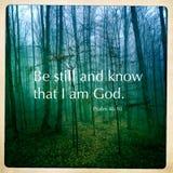 Цитата Священного Писания псалма Стоковое Изображение RF