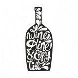 Цитата сформированная бутылкой бесплатная иллюстрация
