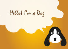 Цитата текста вектора собаки, вектор собаки Стоковое Фото