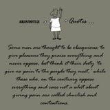 Цитаты Аристотеля Некоторые люди считается Стоковая Фотография
