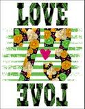 Цитаты и дизайн номера Графическая печать для одеяний Стоковое фото RF