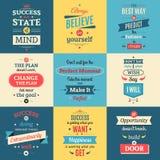 Цитаты успеха покрасили плакаты иллюстрация вектора