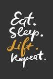 Цитаты для фитнеса, спортзала Литерность руки и typograph таможни иллюстрация штока