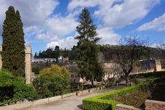 Цитадель Альгамбра, сады Гранады, Испании внутренние стоковые изображения