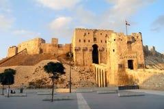 Цитадель в Халебе, Сирии Стоковое Изображение RF