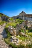 Цитадель RaÈ™nov (румын: Cetatea Râșnov) стоковая фотография
