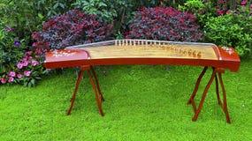 Цитра, китайский традиционный музыкальный инструмент Стоковое фото RF