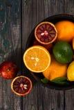 Цитрусовые фрукты в шаре Стоковые Фото