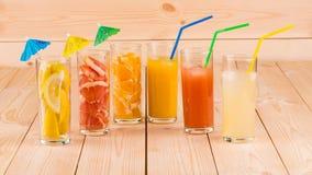 Цитрусовые фрукты и сок Стоковое Фото