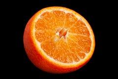 Цитрусовые фрукты Клементина на черноте стоковые фотографии rf
