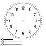 Циферблат круглый Дизайн для людей Шкала пустого дисплея механика бесплатная иллюстрация