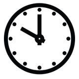 Циферблат Пустая шкала часа с часом и минутной стрелкой Часы метки точек Простая плоская иллюстрация вектора иллюстрация штока