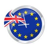 Циферблат с EC и Великобританией сигнализирует, символизирующ BREXIT Стоковое фото RF