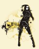 цифровая девушка Стоковая Фотография RF