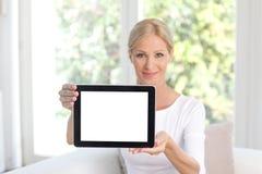 цифровая женщина таблетки Стоковые Изображения RF