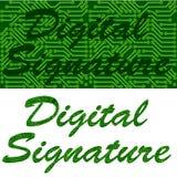 Цифровая подпись Стоковое Изображение RF