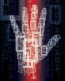 цифровая рука Стоковое Изображение