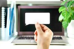 Цифровая связь и маркетинг, комментарий онлайн стоковое изображение rf