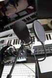 цифровая студия звукозаписи нот Стоковое Изображение RF