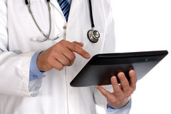 цифровая таблетка доктора используя Стоковое Изображение RF