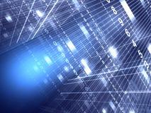 цифровое абстрактной предпосылки голубое Стоковые Фото