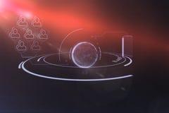 Цифровое изображение глобуса с социальным взаимодействием Стоковое фото RF