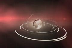 Цифровое изображение земли с светлым следом Стоковые Фото