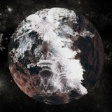Цифровое изображение облака на глобусе Стоковые Фото